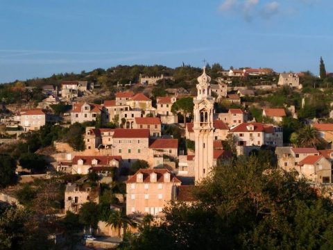Milna on Island of Brac in Croatia