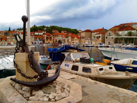 Small place Milna on Island of Brac