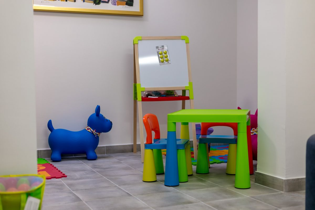 Part of toys in the kids playing room